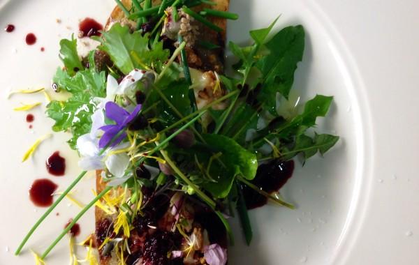 Beet & Sorrel Greens, Nasturtium