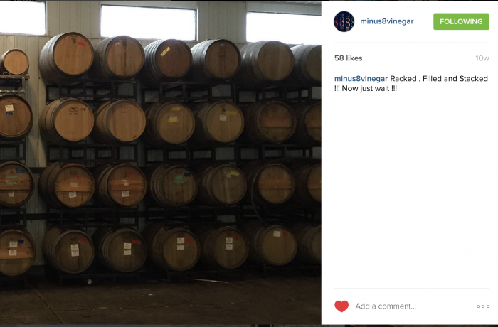 Barrels filled and Stacked