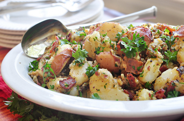 German Potato Salad With Turkey Bacon and IP8 Vinegar