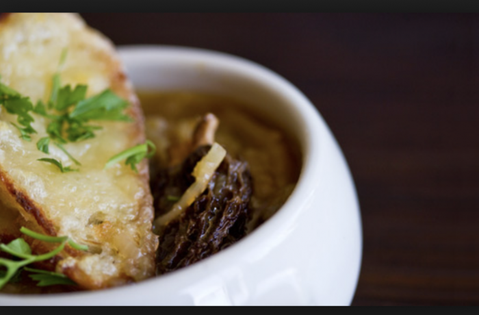 French Onion and Morel soup