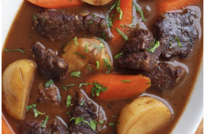Beef Stew with Carrots & Potatoes with Dehydr8 Vinegar