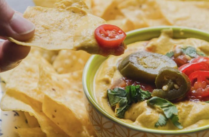 Vegan Queso Dip with White Verjus